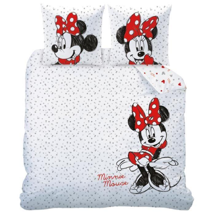housse de couette minnie drawing j k markets. Black Bedroom Furniture Sets. Home Design Ideas