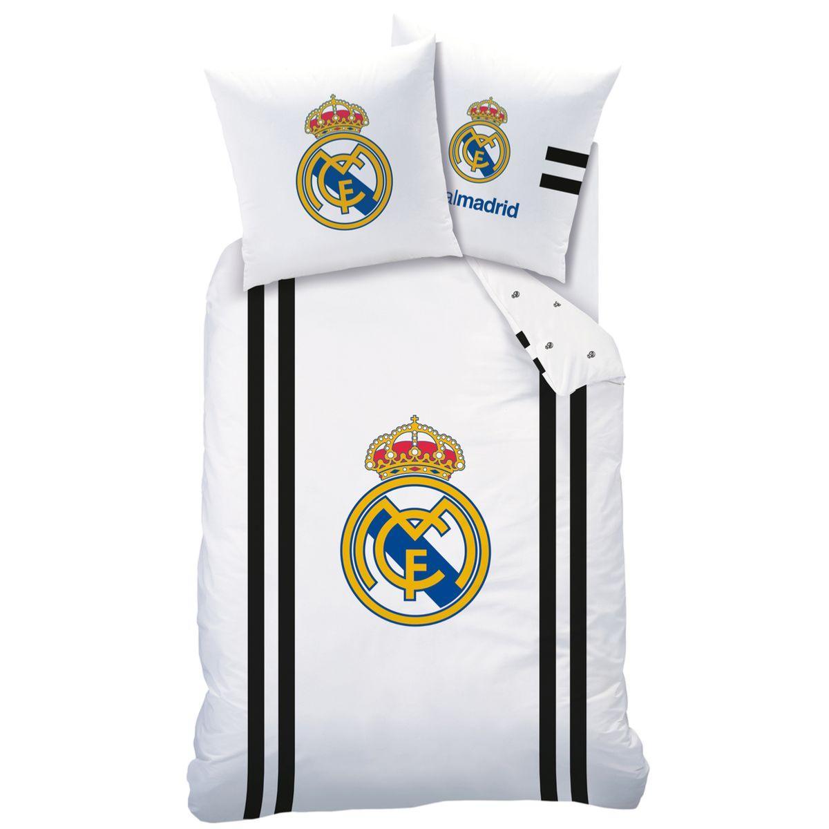 Couette 1 Personne Taille.Housse De Couette Real Madrid 140x200cm 1 Personne 100 Coton Taille Francaise