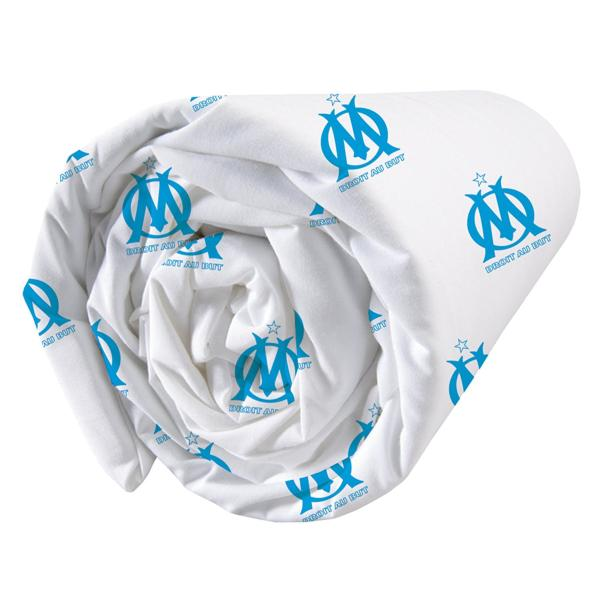 drap housse olympique de marseille om blason polycoton 1 ou 2 personnes j k markets. Black Bedroom Furniture Sets. Home Design Ideas
