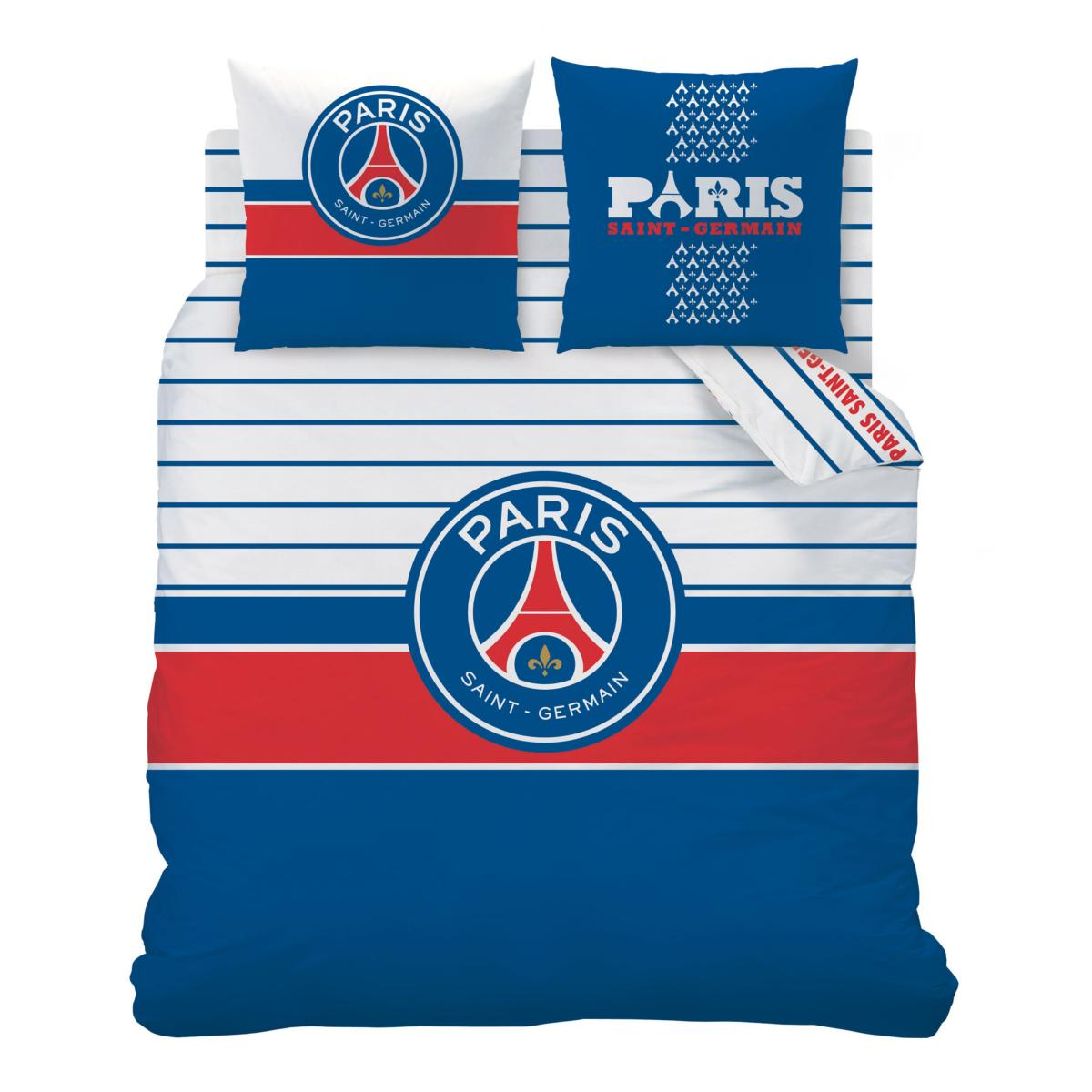 parure housse de couette psg logo paris saint germain j k markets. Black Bedroom Furniture Sets. Home Design Ideas