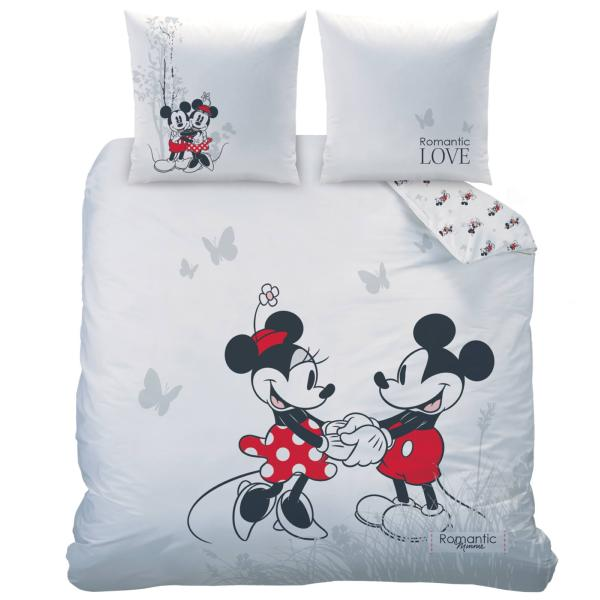 parure housse de couette minnie et mickey romantic garden 2 personnes 100 coton j k markets. Black Bedroom Furniture Sets. Home Design Ideas