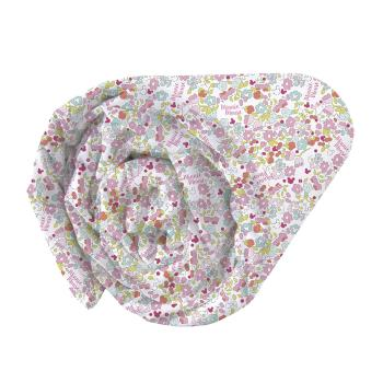 Drap housse Minnie Bloom, Multicolore, 1 personne, 100% Coton