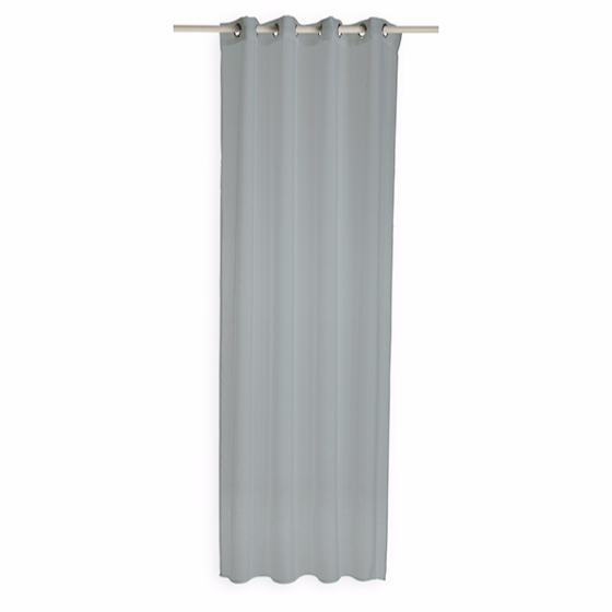 voilage 135x240cm 100 polyester zinc gris clair j k markets. Black Bedroom Furniture Sets. Home Design Ideas