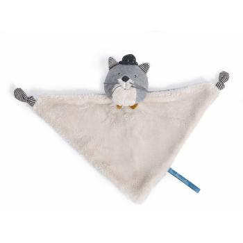 Doudou Chat Fernand, Les Moustaches, Blanc, Polyester