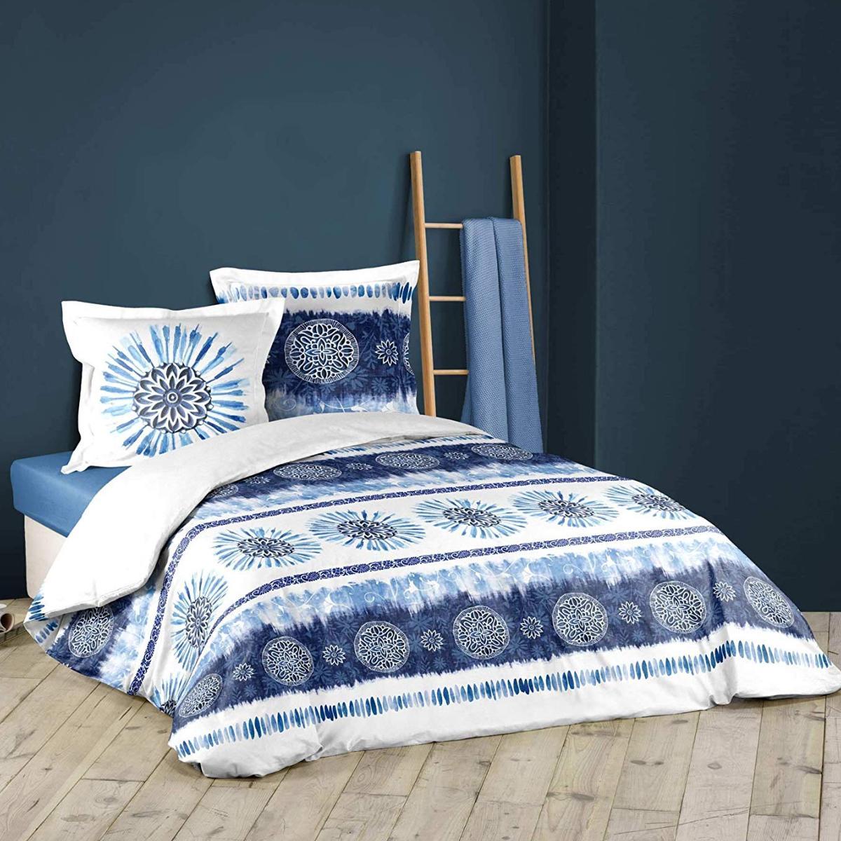 Housse De Couette Bloomabelle Mandala Bleu 220x240cm Coton J K Markets