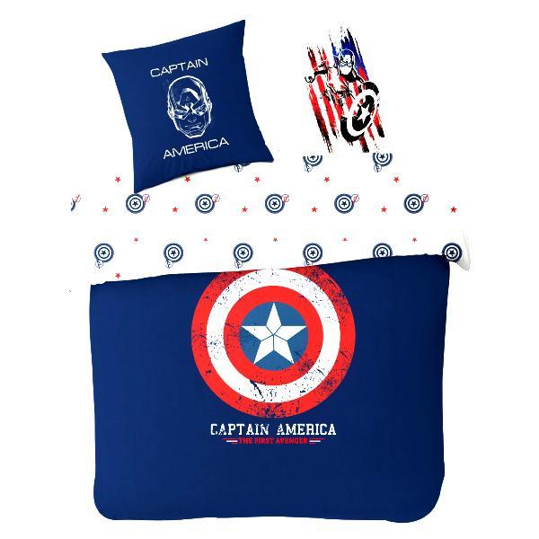 parure housse de couette captain america avengers bleu 200x200cm 100 coton j k markets. Black Bedroom Furniture Sets. Home Design Ideas