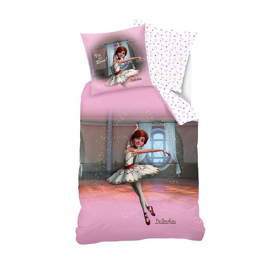 parure housse de couette ballerina 140x200cm 1 personne 100 coton j k markets
