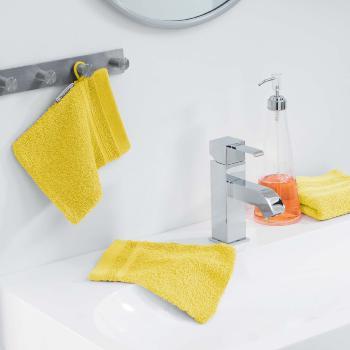 tapis ponge pour sortie de bain ou de douche 50x85cm 100 coton jaune soleil j k markets. Black Bedroom Furniture Sets. Home Design Ideas