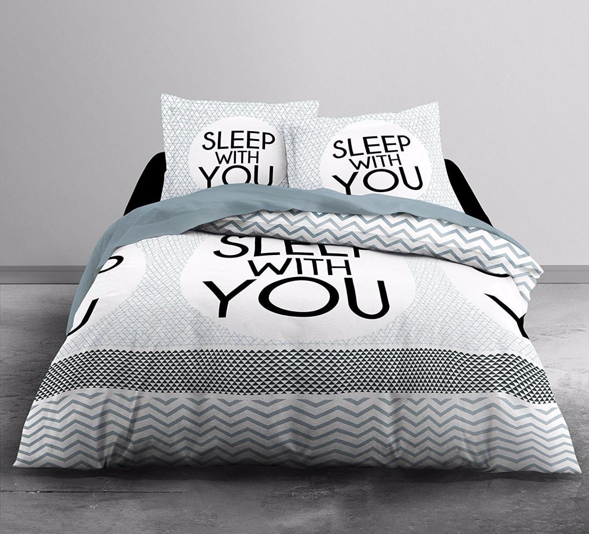 housse de couette home sleep home j k markets. Black Bedroom Furniture Sets. Home Design Ideas