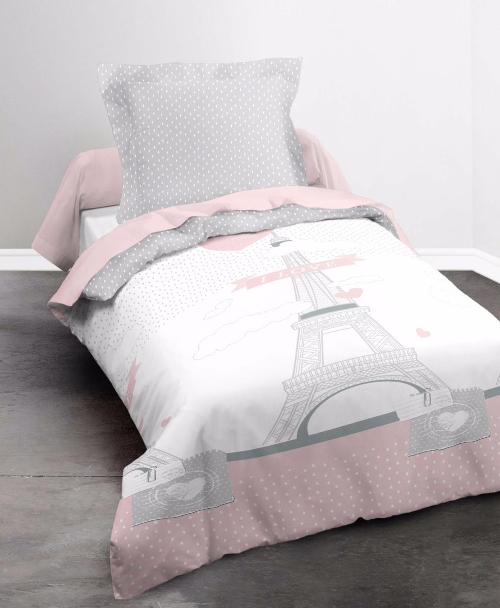 housse de couette i love paris j k markets. Black Bedroom Furniture Sets. Home Design Ideas