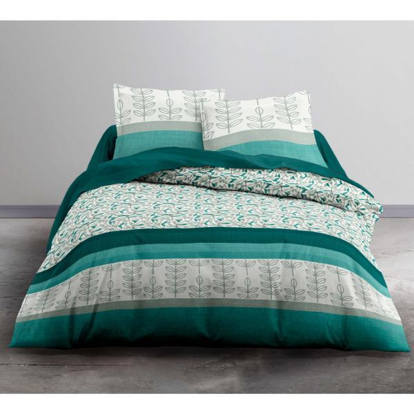 parure housse de couette fresh 220x240cm 2 personnes 100 coton j k markets. Black Bedroom Furniture Sets. Home Design Ideas