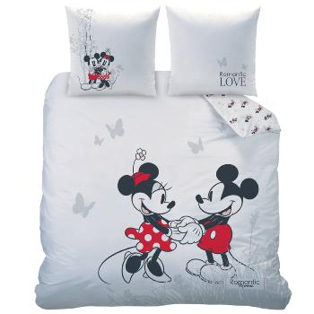 Housse de couette Minnie & Mickey Romantic Garden 220x240cm 100% Coton