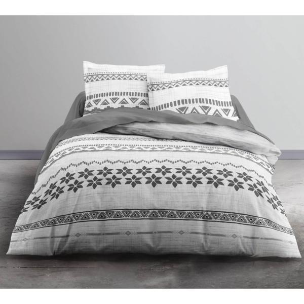parure housse de couette moya 220x240cm 2 personnes 100 coton. Black Bedroom Furniture Sets. Home Design Ideas