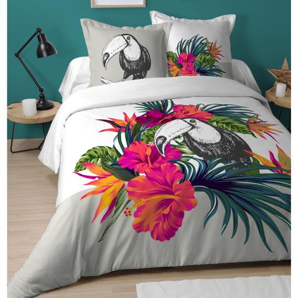 Parure housse de couette tucano toucan tropical - Analyse de pratique toilette au lit ...