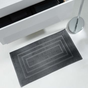 serviette de toilette 50x90cm unie anthracite gris fonc j k markets. Black Bedroom Furniture Sets. Home Design Ideas