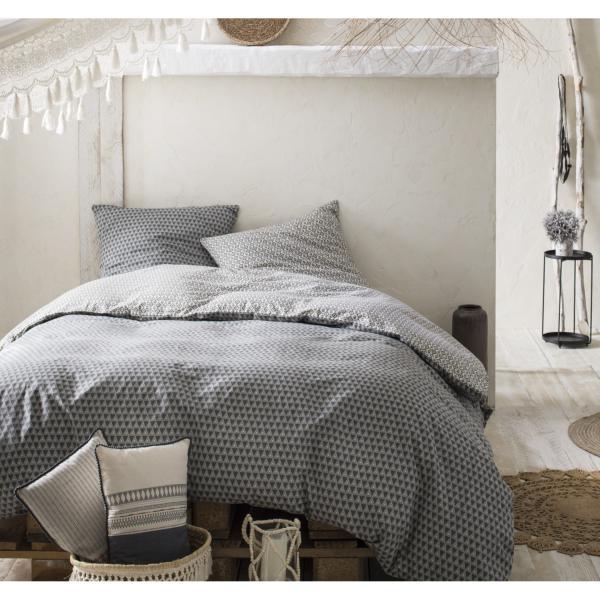 parure housse de couette kilim hippie chic grise. Black Bedroom Furniture Sets. Home Design Ideas