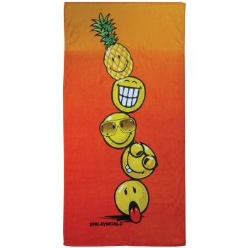 Drap de plage ou de bain Smiley World Cocktail, Orange, 75x150cm, 100% Coton