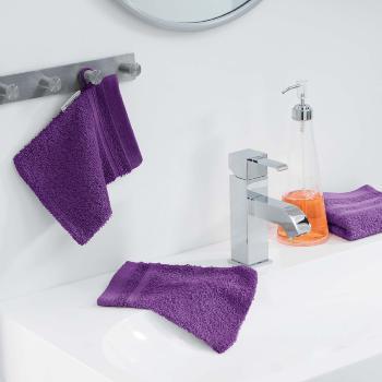 tapis ponge pour sortie de bain ou de douche 50x85cm 100 coton prune j k markets. Black Bedroom Furniture Sets. Home Design Ideas