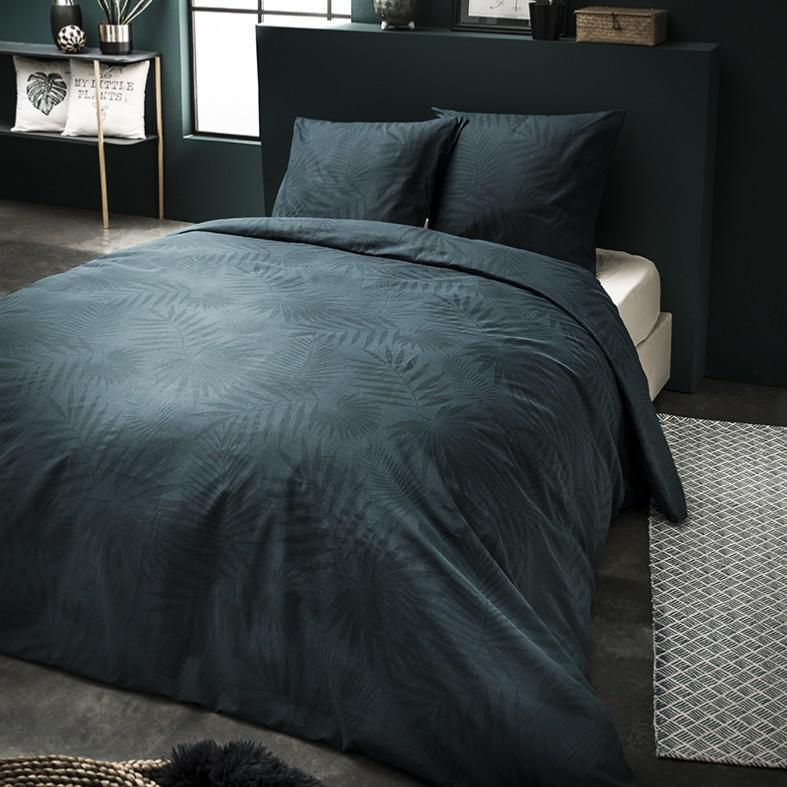 housse de couette garden vert jardin d 39 hiver 240x260cm 2 personnes 100 coton j k markets. Black Bedroom Furniture Sets. Home Design Ideas