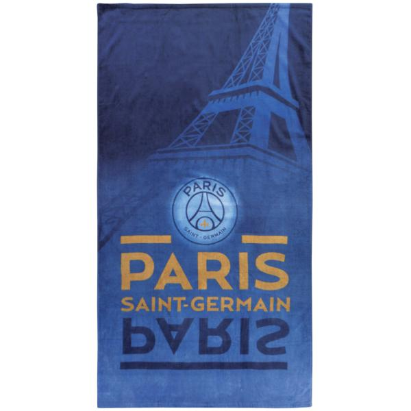 drap de plage paris saint germain psg eiffel 100 coton bleu en 85x160cm j k markets. Black Bedroom Furniture Sets. Home Design Ideas