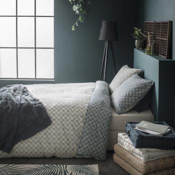 housse de couette botanic jardin d 39 hiver 240x260cm 2 personnes 100 coton j k markets. Black Bedroom Furniture Sets. Home Design Ideas