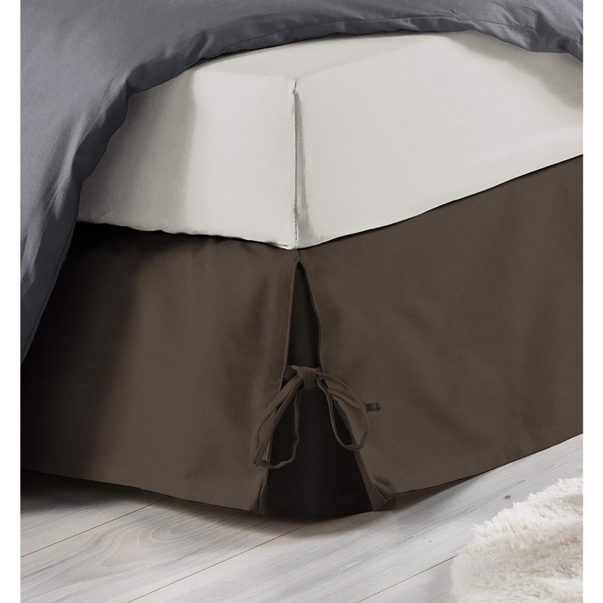 Qualit/é h/ôteli/ère Taupe Polycoton 140x190cm J/&K Markets Cache sommier /à nouettes
