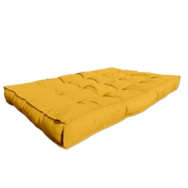 Matelas Pour Palette 120x80x15cm 100 Coton Couleur Jaunesunny