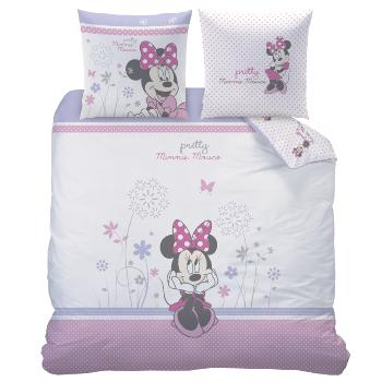 Housse de couette Minnie Poetic Flower 200x200cm, 100% Coton