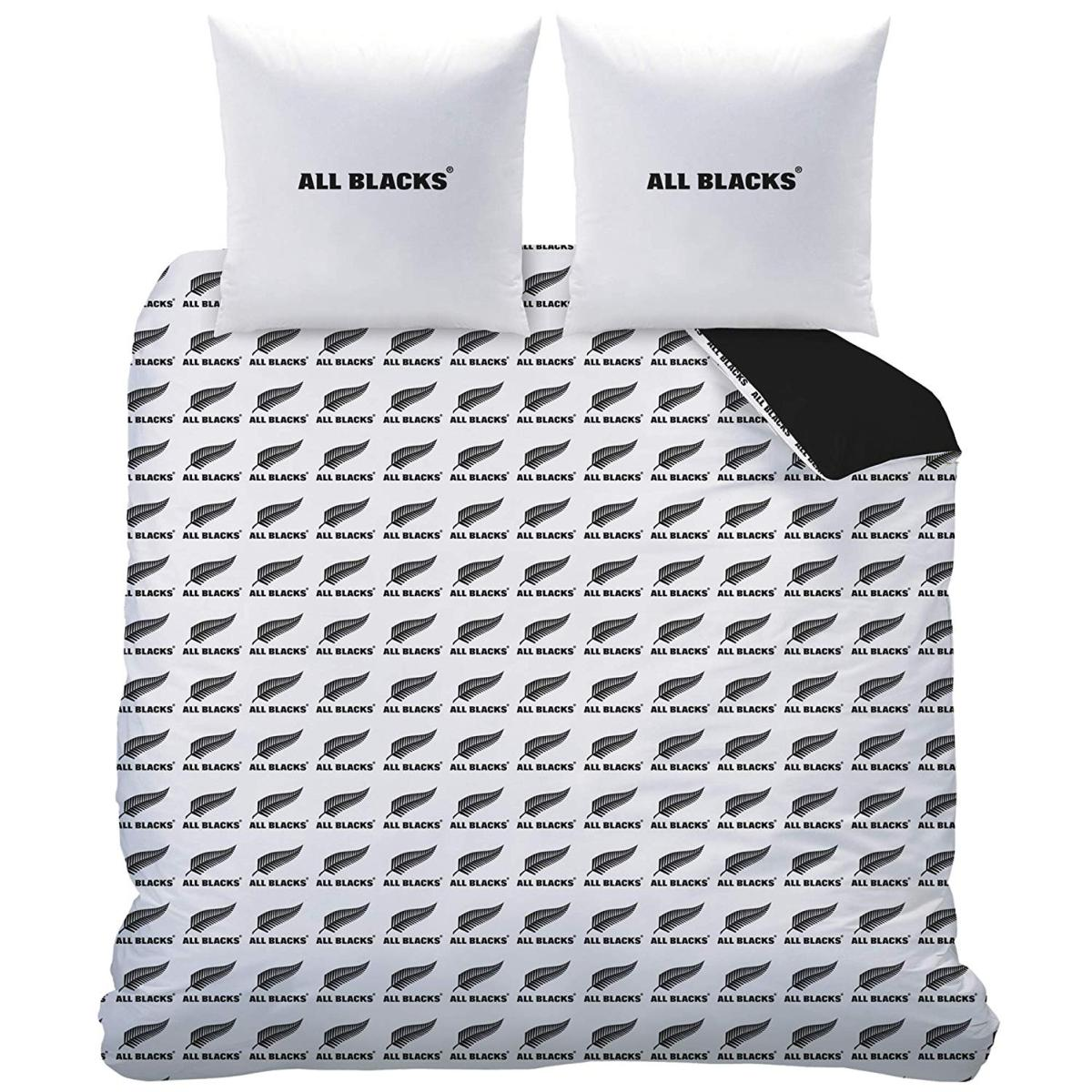 parure housse de couette rugby all blacks polo 220x240cm. Black Bedroom Furniture Sets. Home Design Ideas