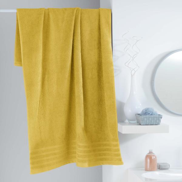 drap de bain 90x150cm uni jaune miel 100 coton j k markets. Black Bedroom Furniture Sets. Home Design Ideas