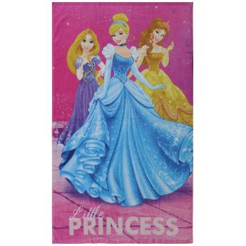 Drap de plage ou de bain Princesses Dream Big, Rose, 70x120cm, 100% Coton