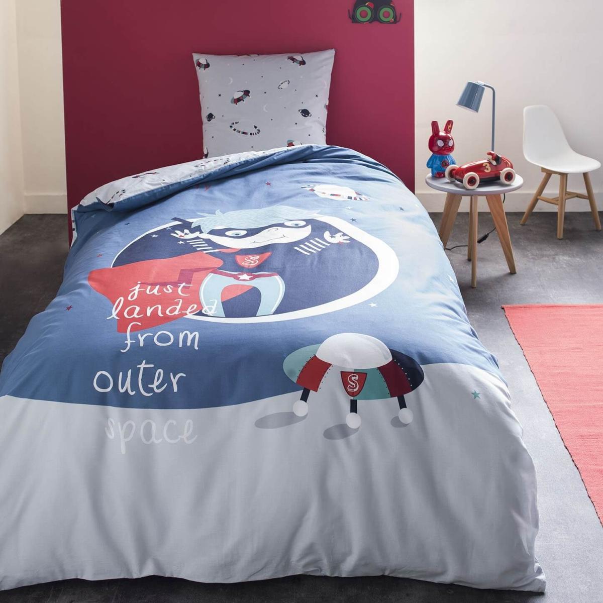 parure housse de couette gravity boy 140x200cm 1 personne 100 coton j k markets. Black Bedroom Furniture Sets. Home Design Ideas