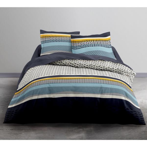 parure housse de couette jaspa forme g om triques j k markets. Black Bedroom Furniture Sets. Home Design Ideas