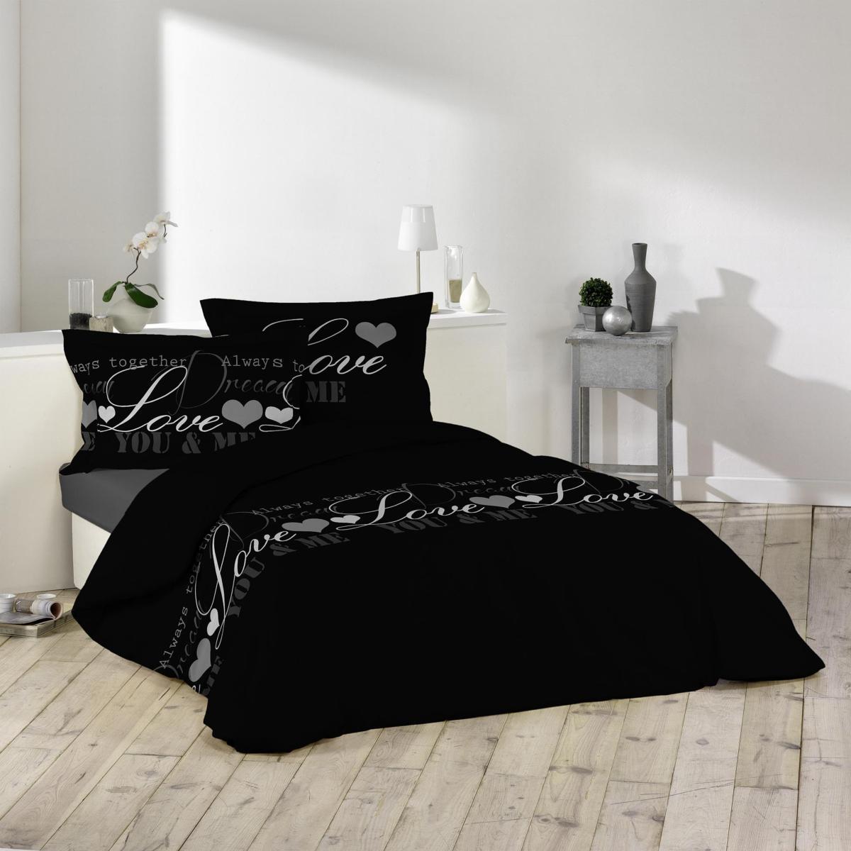parure housse de couette love dreams romantique j k markets. Black Bedroom Furniture Sets. Home Design Ideas