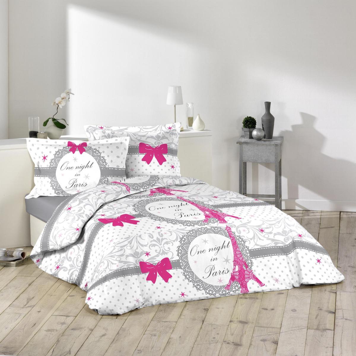 parure housse de couette pari love imprim e allover j k markets. Black Bedroom Furniture Sets. Home Design Ideas
