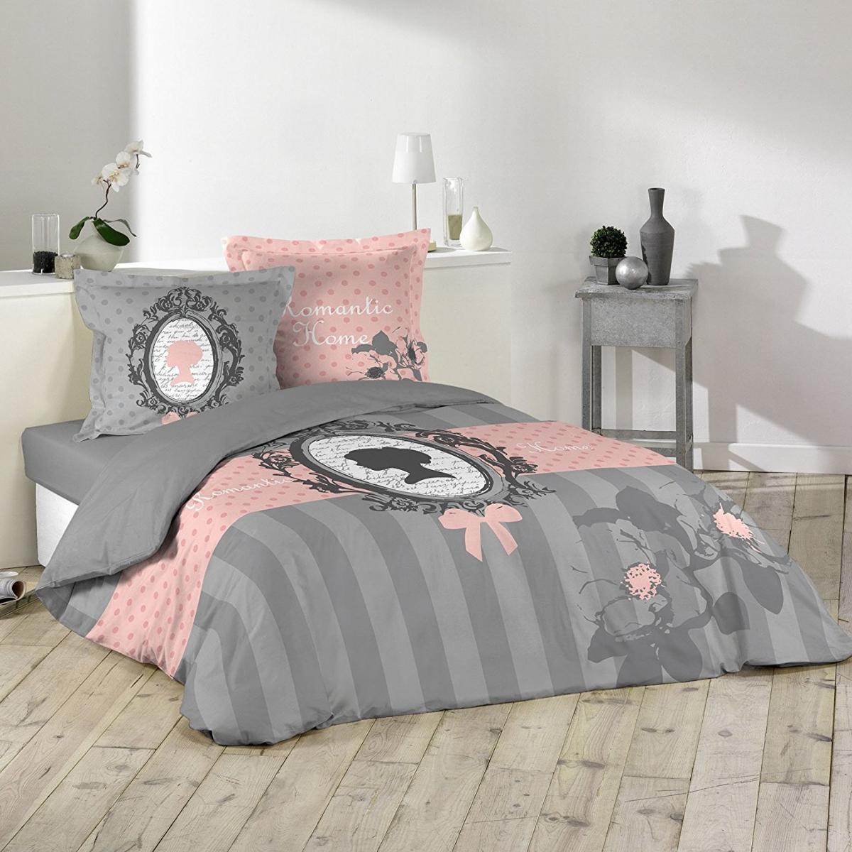 Housse de couette Boudoir Romantique, 220x240cm, 100% Coton