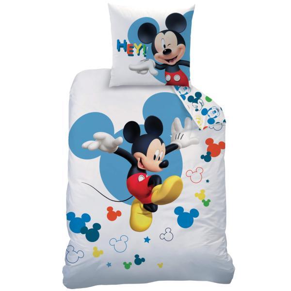 Parure Housse De Couette Mickey Jump Blancbleu 140x200cm 1